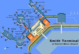detroit metro airport map det airport map det terminal map