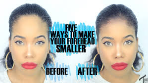 hairsyles that minimize the nose how to 5 easy ways to make your forehead look smaller youtube