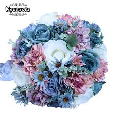 bouquets for wedding kyunovia vintage blue silk flowers bouquet for wedding plain