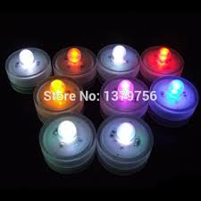 small round led lights 12pcs rgb color changing round mini led lights for vases battery
