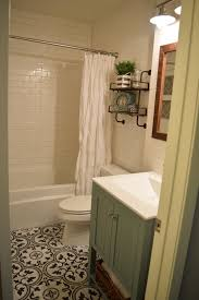 Gray And Brown Bathroom by Our Small Bathroom Remodel Subway Tile Walls Merola Tile Arte