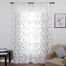 online get cheap sheer curtains pattern leaves aliexpress com