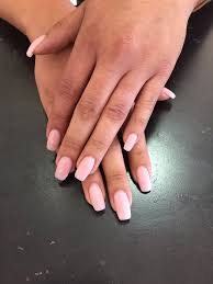 set of acylic nails with opi gel color