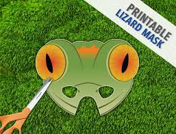 printable lizard mask template lizard mask gecko lizard mask reptile party mask halloween