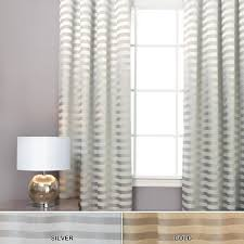 interior design beautiful light grey horizontal striped curtains
