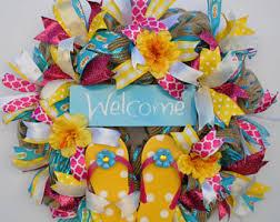flip flop wreath flip flop wreath summer wreath signs house