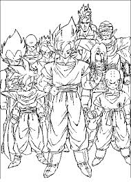 dragonball coloring pages dragon ball coloring pages