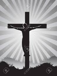 christian cross on sunburst background for easter day royalty free