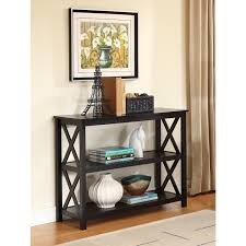 Living Room Console Table 3 Tier Black Sofa Table Bookcase Living Room Shelves