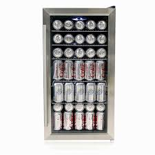 Stainless Steel Mini Fridge With Glass Door by Whynter Br 125sd Mini Stainless Steel Refrigerator