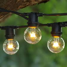 25 ft black commercial c9 string light with led g40 premium warm