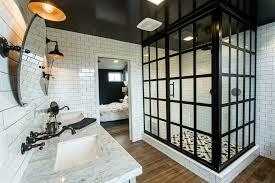 Industrial Bathroom Mirror by Industrial Bathrooms Bathroom Industrial With Glass Panel Shower