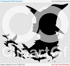 clipart of a black silhouetted witch changing into birds royalty