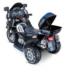 police trike 6v powered ride on black pacific cycle toys