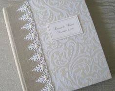 8 X 10 Photo Album Books Custom Hand Made Linen Wedding Photo Album And Book With Solid
