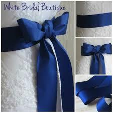 royal blue ribbon royal blue sash royal blue wedding sash royal blue ribbon sash