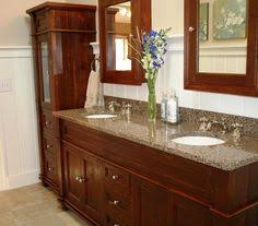 Bathroom Vanity And Linen Cabinet by Best Color For Granite Countertops And White Bathroom Cabinets