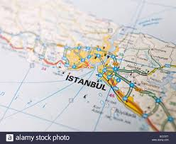 Istanbul Map Map Of Istanbul Stock Photo Royalty Free Image 59272972 Alamy