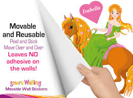100 princess stickers for walls disney princess royal debut personalised princess on a horse wall sticker totally movable