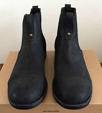 ugg gallion sale mens size 9 5 black ugg gallion leather pull on ankle casual boots