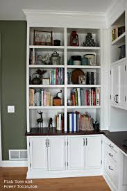 built in bookshelf traditional pantry with high ceiling hardwood