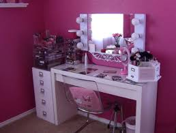 Acrylic Vanity Table Furniture Captivating Makeup Vanity Table With Lighted Mirror Nu