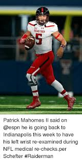 Texas Tech Memes - texas tech patrick mahomes ii said on he is going back to