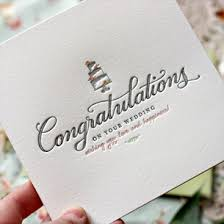 congratulations on your wedding cards letterpress greeting card congratulations on your wedding