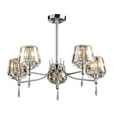 dar sel0550 selina 5 light modern ceiling light semi flush