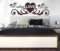 lit chambre adulte beau stickers personnalisé prénoms amour tête de lit chambre