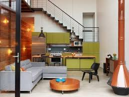 brilliant small kitchen and living room design on small home
