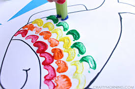 celery stamping rainbow fish craft for kids crafty morning