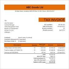 Receipt Template Excel 10 Tax Invoice Templates Free Documents In Word Pdf