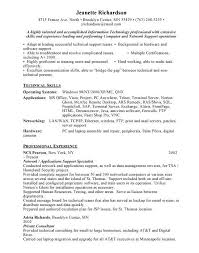 Technical Support Resume Template Application Support Resume Sample Professional Application