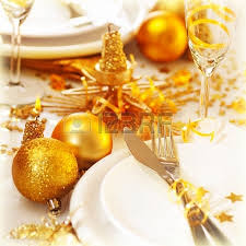 New Years Table Decorations Image Of Beautiful Decorated New Year Table Setting Romantic