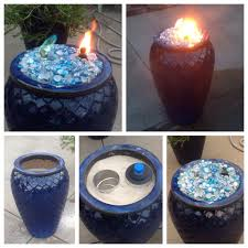 made this fire pot using a ceramic flower pot sand to fill the
