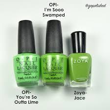green nail polish comparisons opi you u0027re so outta lime opi i u0027m