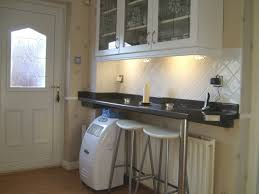 Wall Bar Table Fair Raised Kitchen Breakfast Bar With White Marble Floating