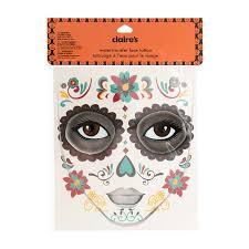 halloween day of the dead face tattoo vacation clothes and