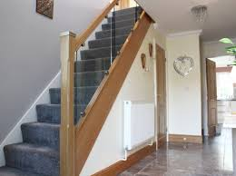 Glass Banisters Toughened Glass Staircases Chrome Metal Iron Oak Staircase