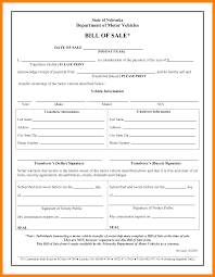 Bill Of Sale Of Car by 10 Bill Of Sale Form For Car Janitor Resume