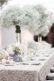 Winter Wedding Centerpieces White Winter Wedding Centerpieces Baby Breath