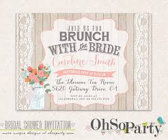 brunch bridal shower invitations shabby brunch custom bridal brunch invitation card brunch with