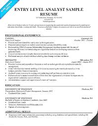 data analyst resume entry level data analyst resume simple captures objective sle