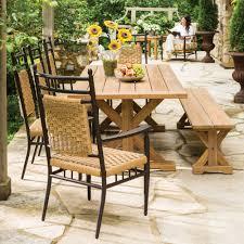 lloyd flanders low country vinyl wicker dining set with teak table