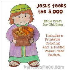 bible crafts jesus feed 5 000