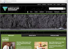 interior department twitter ban bureau of land management changes website homepage to coal bed