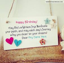 happy birthday greetings card with name hbd wishes pinterest