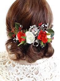 christmas hair accessories hair clip floral hair comb christmas hair accessories