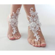 barefoot sandals for wedding jewelry for wedding lovely white or ivory foot jewelry